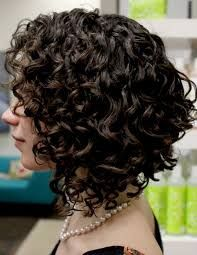 curly angled bob with bangs - Google Search