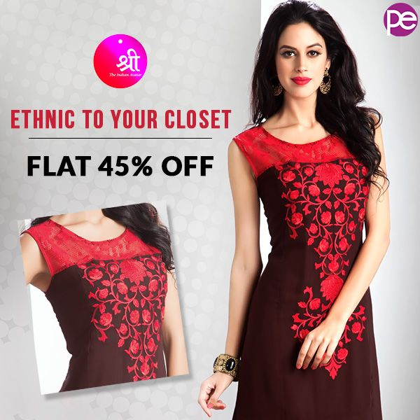 Light up your look with purchase of Show-Stopping designs of 'Kurtas & Kurtis' from the house of SHREEat FLAT 45% OFF.  #dreamdress #weddingdress #moda #dress #dresses #beautiful #fashion #dressup #clothes #style #beauty #outfit #fashionaddict #fashionstyle #amazingdress #dressesonline #dressadict #dresslover #fashiondress #fashionblog #gown