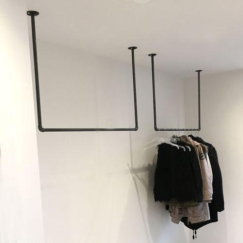 Kleiderstange Von Der Decke Platzsparende Garderobe Fur Den