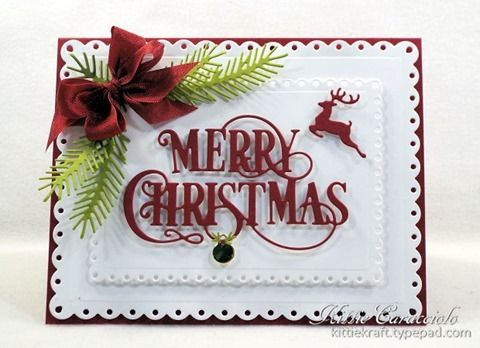 KC Impression Obsession Merry Christmas Flourish 1 center