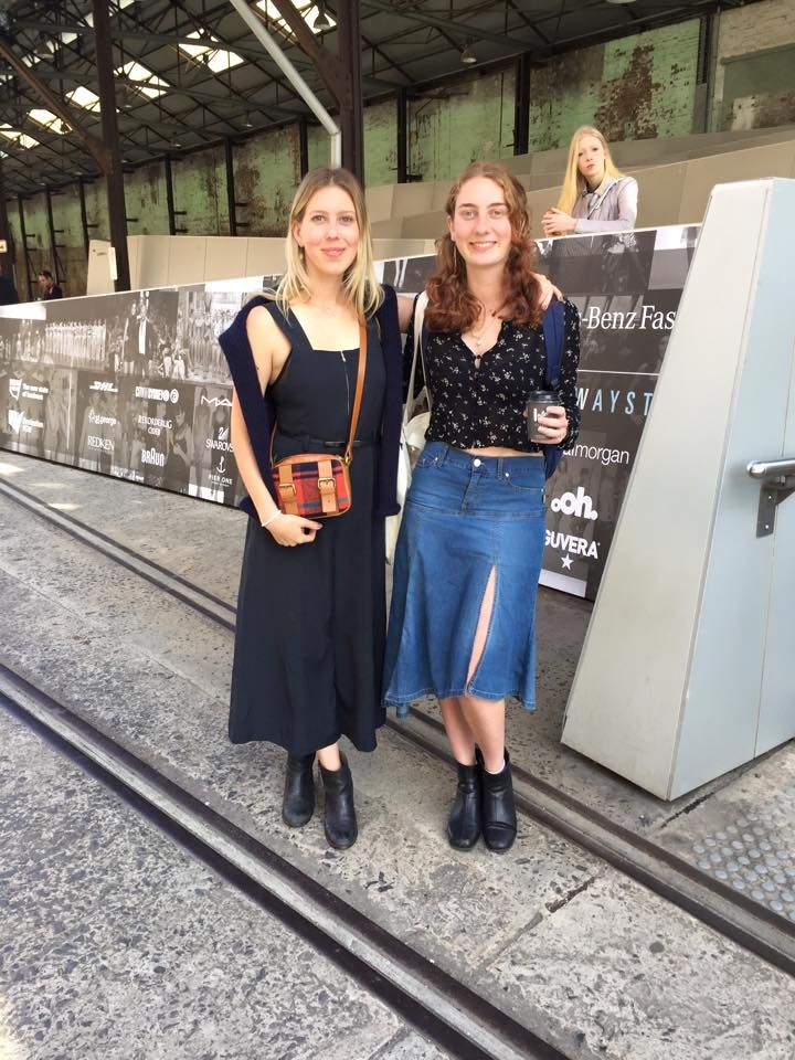 Bronte and Shea went to the CLEAN CUT talks today at Fashion Week!