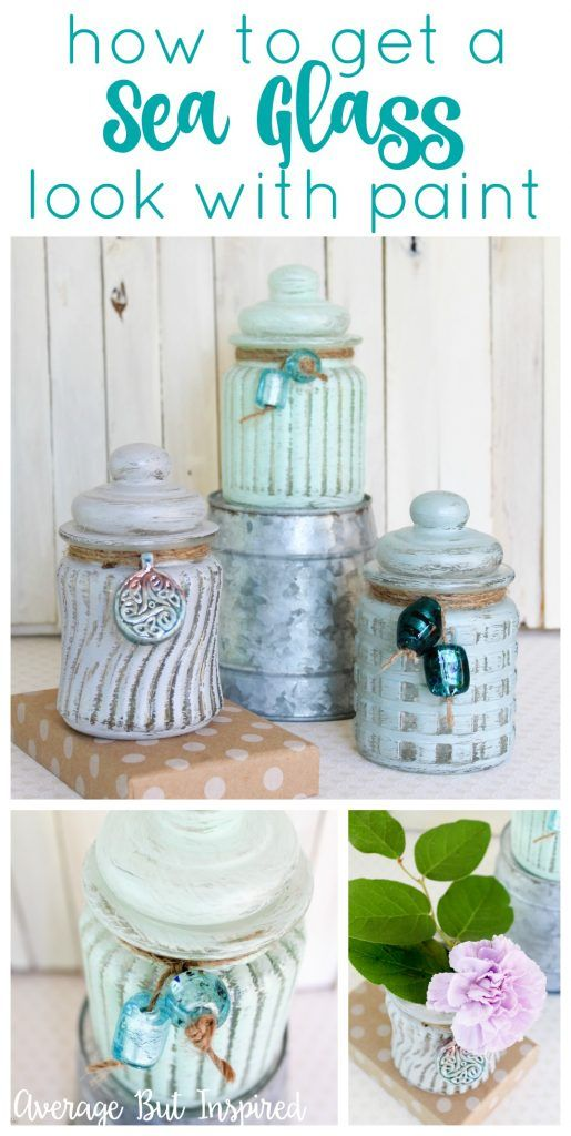 Sea Glass is so beautiful, so why not recreate the look on any glass object with this tutorial on how to get a sea glass look with paint. It's easy!