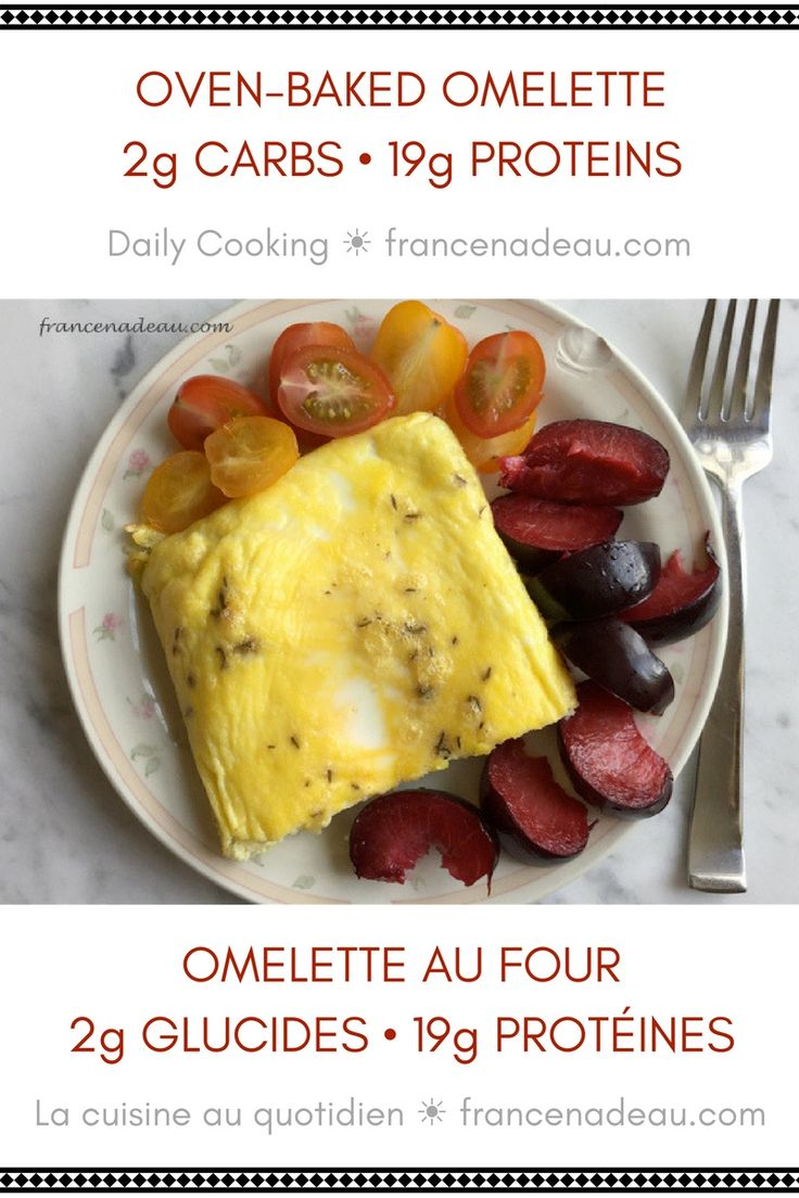 Oven-Baked Omelette • 2g carbs 19g proteins