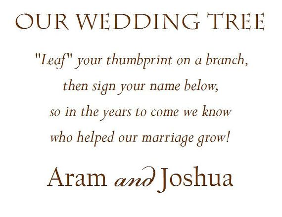 Customized Poem for your Thumbprint tree wedding by fourch on Etsy, $9.99