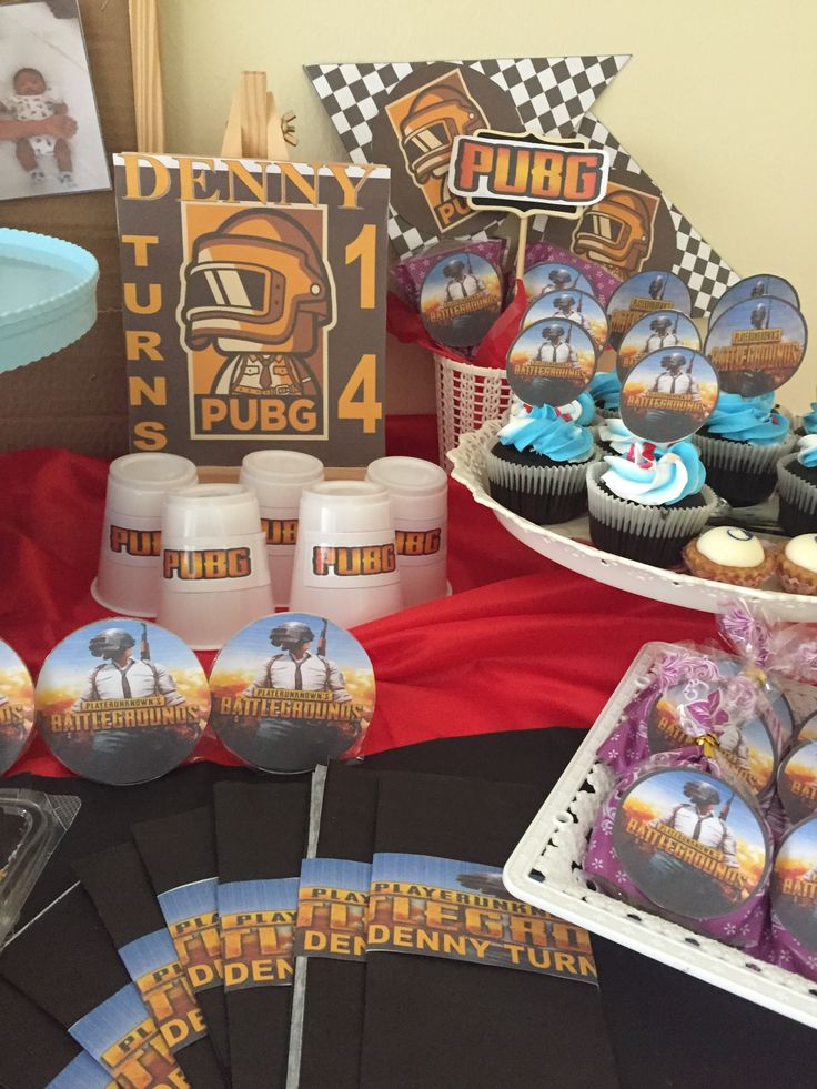 Dessert table pubg (With images) Birthday party themes