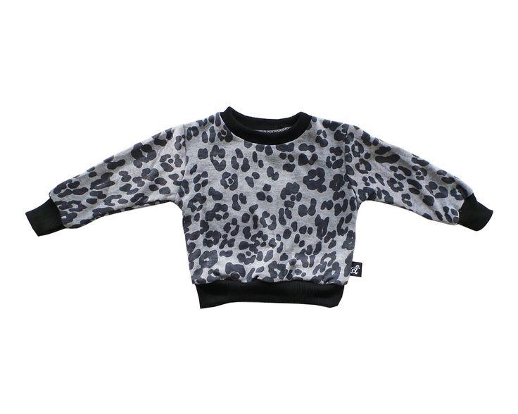 Grey Leopard Sweater from www.littletrojan.com