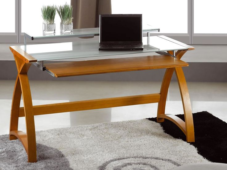Spectrum Real Wood Veneer Computer Desk Oak Enjoy The Warmth And Style Of Beautifully Finished Gl