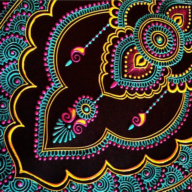 I've gone off the deep end with color, I guess my surroundings are influencing my taste. #colorfulindia #maplemehndi #mehndi #henna #hennapro #paint #acrylics #saturation #spring #adorn #art #create #design #detail #intricate #painting #Delhi #NewDelhi #India #Gourgoun #jewelry #moreismore