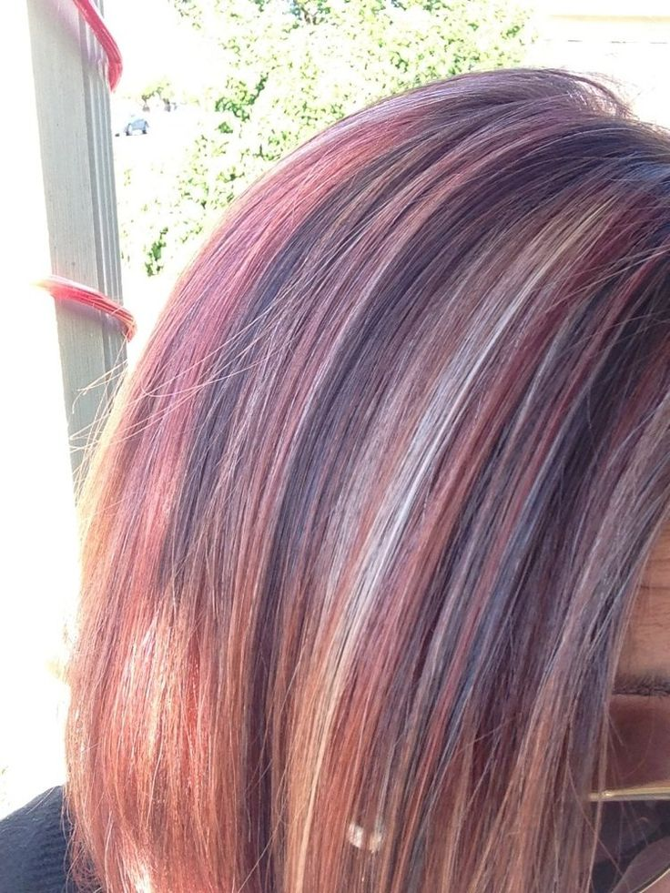 Red and purple highlights for blonde hair trendy hairstyles in red and purple highlights for blonde hair pmusecretfo Image collections