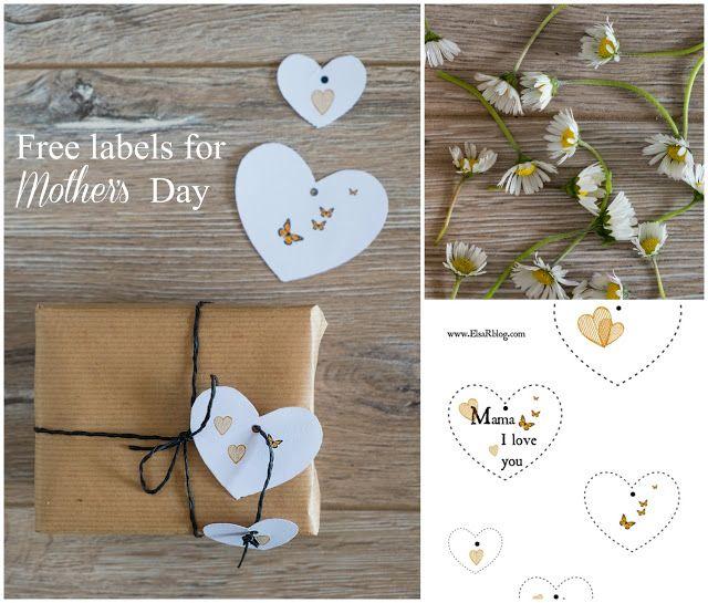 Gratis labels voor Moederdag - Feestdagen -   ElsaRblog