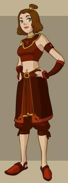 Fire Nation Suki Outfit from Avatar The Last Airbender Book 3
