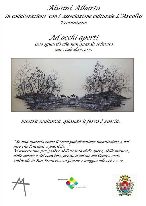 """Se una materia come il ferro può diventare incantesimo, vuol dire che l'incanto è possibile. """"AD OCCHI APERTI"""", la mostra scultorea di Alberto Alunni a Umbertide."""