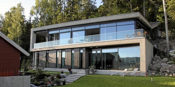 A villa in rykkinn norway meme folded plane for Exterieur villa moderne