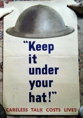 Careless talk costs lives.  WW2 poster.