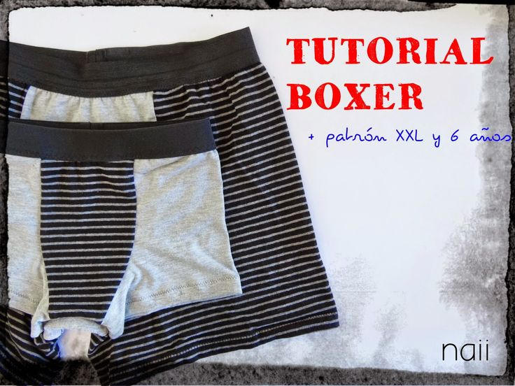 naii diary: Free Tutorial Boxer + Pattern Mens PDF Pattern. Sizes 46, 42 and kids 6