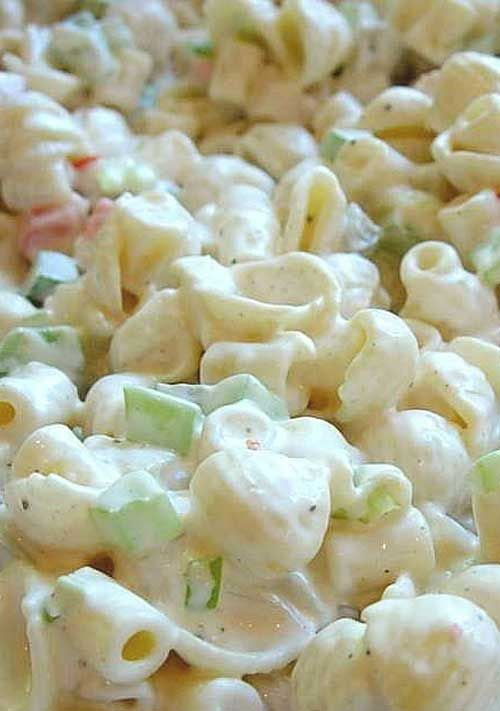 CP I love to add stuff to basic macaroni salad....Good Seasons dry mix and boiled shrimp, some imitation crab....makes a great seafood salad.