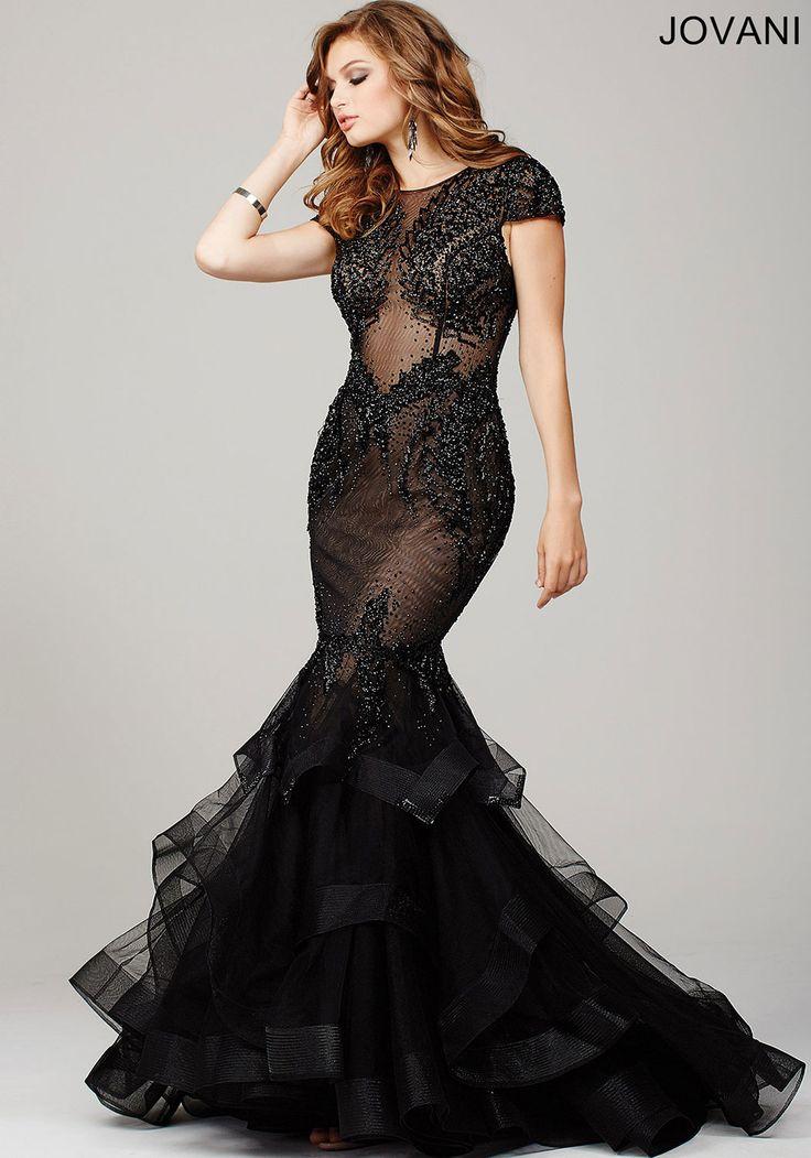 Black Prom Dress by Jovani- This cap sleeve mermaid gown ... - photo #21