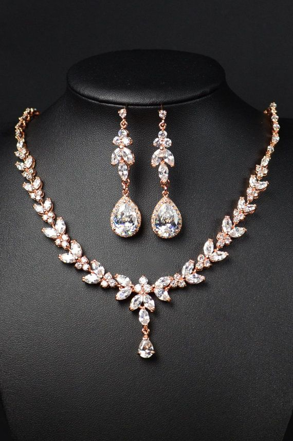Bridal Jewelry SET bridesmaid gifts Jewelry SET clear Crystal
