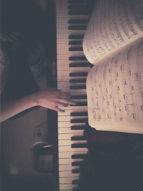 You can get out so many emotions when you sit with your piano for a while. It's wonderful! So true