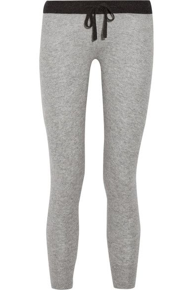 James Perse - Genie Cashmere Track Pants - Light gray -