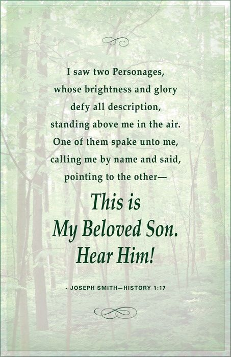 Did you know that Joseph Smith testified to have experienced a vision in our day of God, the Eternal Father, and His Son, the Resurrected Lord Jesus Christ? Learn more, and discover the truth about his life and mission as a modern-day witness of the Savior: http://youtu.be/1xVw6PsSinI; http://facebook.com/217921178254609