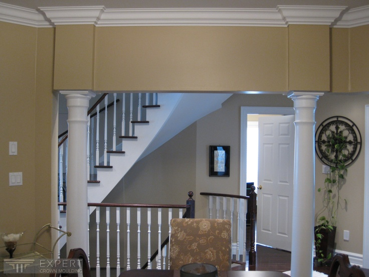 6 1 2 tuscany crown moulding in dining room 6 7 for Crown molding ideas dining room