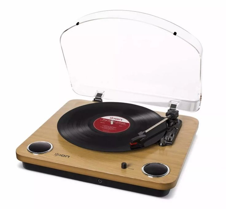 toca-discos vinil c/alto-falantes, tampa protetora ion maxlp