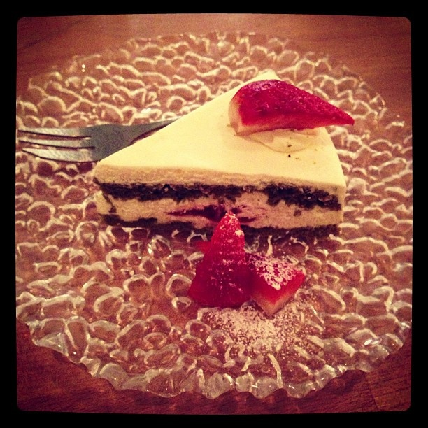 Green Tea Sponge Cake at Necco - a 'kawaii' Japanese restaurant in Exmouth Market .@Trang Phan (Trang Phan) s Instagram photos | Webstagram - the best Instagram viewer