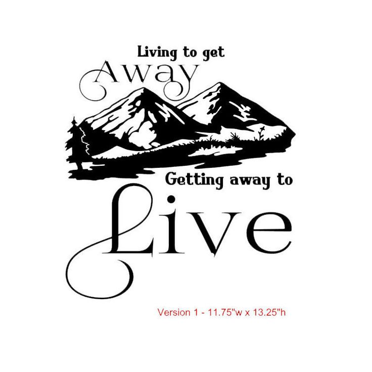 Living to get away getting away to live vinyl decal by thechaoticmindstudio on etsy