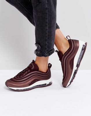 50c3bdc906a Nike Air Max 97 Trainers In Metallic Mahogany