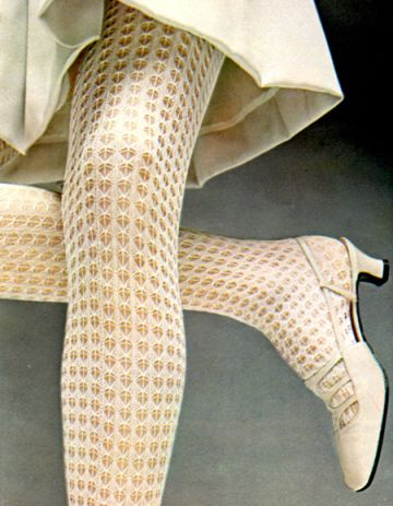 1960s Mary Quant tights ●● fuzz sez: love. Love. LOVE! ●●