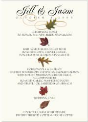 Fall Wedding Menu Cards-Autumn Theme Wedding Menu Cards-Fall Wedding Ideas-Fall Leaves-Autumn Flowers-Pumpkins-Sunflowers-Table Numbers-Plac...