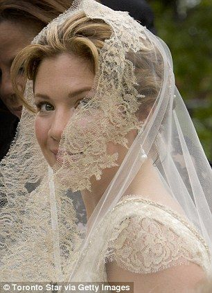 Justin Trudeau's bride Sophie Gregoire arrives at Sainte-Madeleine D'Outremont Church, Montreal, on their wedding in May 2005