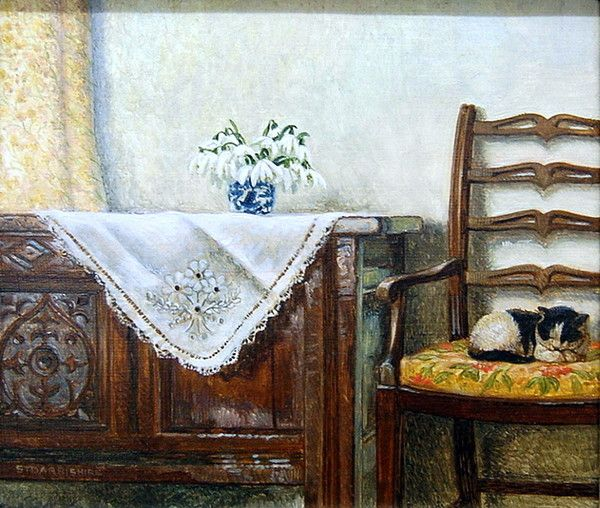 Home sweet home,  sleeping kitten in chair....by Stephen Darbishire