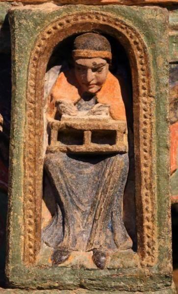 Encuadernador - Detalle del Cenotafio de los Santos Vicente, Sabina y Cristeta