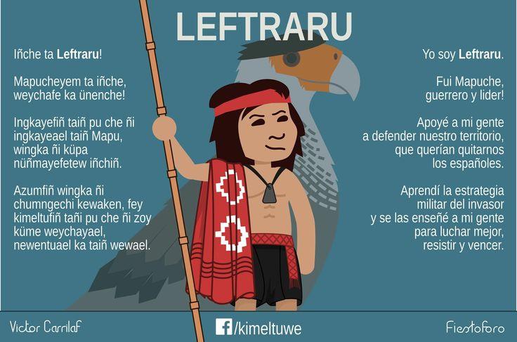 Leftraro o Lautaro guerrero  Araucano  de  Chile