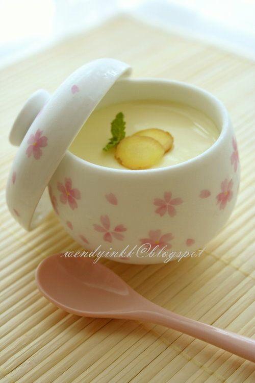 Ginger double boiled custard egg