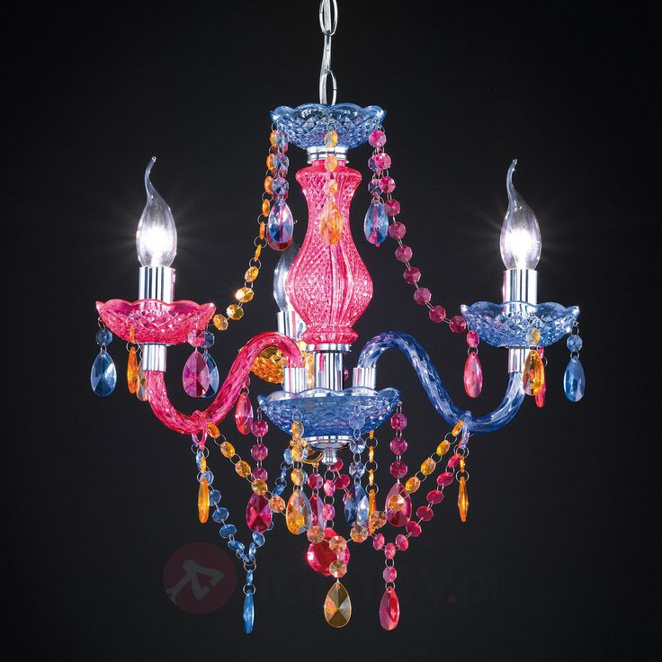 Kolorowy żyrandol PERDITA z akrylową draperią bezpieczne & wygodne zakupy w sklepie internetowym Lampy.pl.