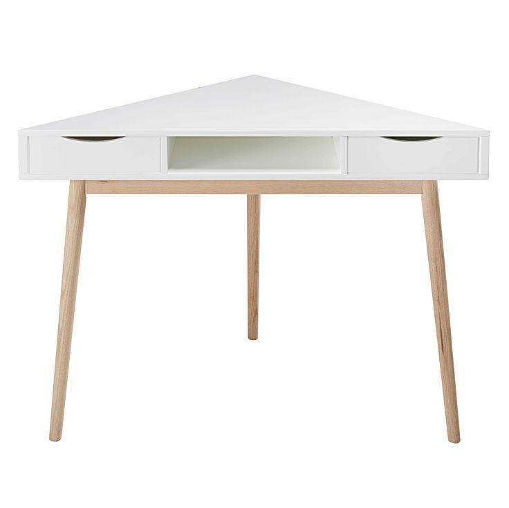 White corner desk Artic