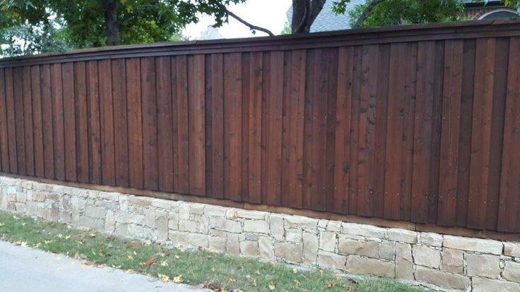 Dark Walnut Ready Seal Staining Wood Fence Cedar Fence