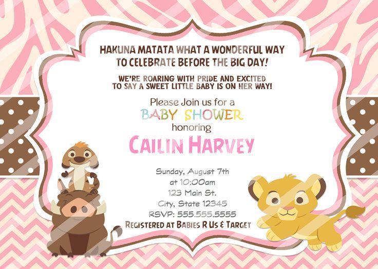 Chevron Simba Baby Shower Invitations