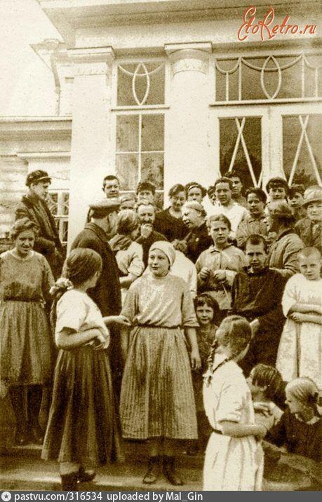 Москва - Посещение Н.К. Крупской школы-колонии при Биостанции в Сокольниках