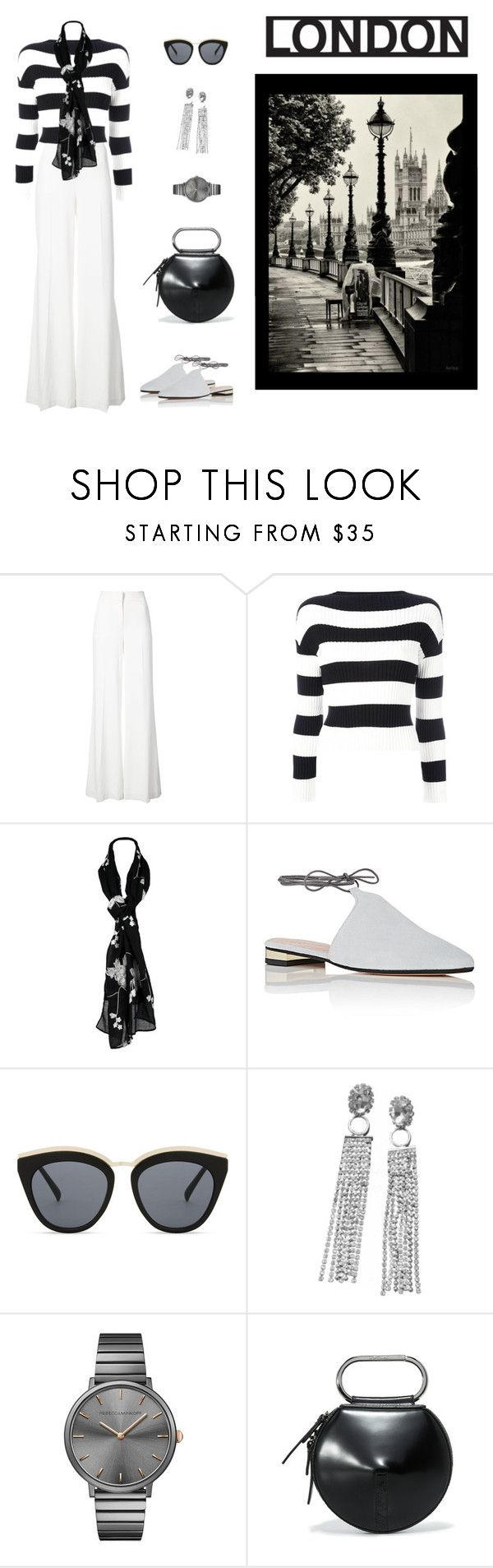 """""""Just Starting Out"""" by jjsunnygirl ❤ liked on Polyvore featuring Oscar de la Renta, Boutique Moschino, Barneys New York, Le Specs, Rebecca Minkoff and 3.1 Phillip Lim"""