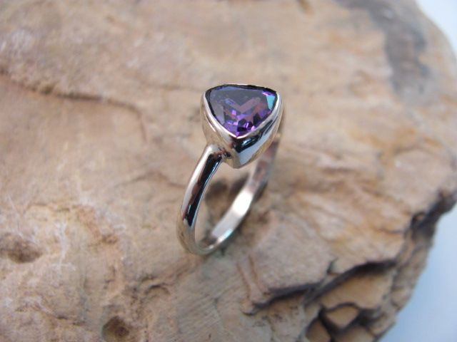 White Gold and Amethyst