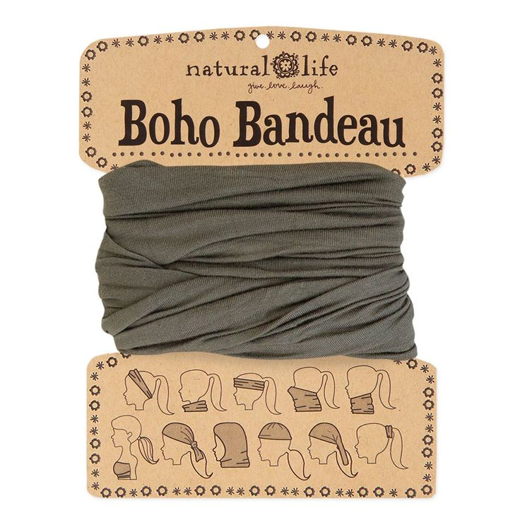 Boho Bandeaus in Solid Olive - Our solid olive boho bandeau is so chic and versatile! Perfect year round, this boho bandeau is sure to go with so many different outfits. Wrap around your head, neck, wrist, or ponytail. It's the perfect boho accessory for girls who love to change up their style! Comes on a card printed with 11 ways to wear it!