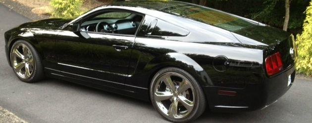 Black 2009 Mustang Lee Iacocca