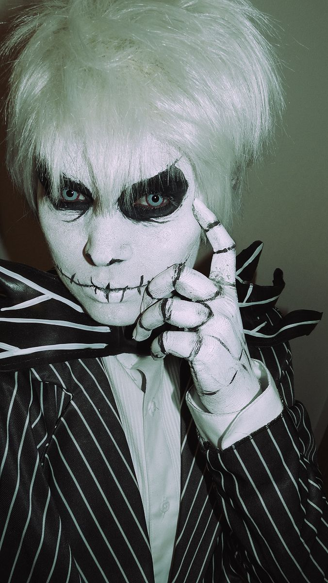 Jack Skeleton Face Paint Holiday This is halloween this