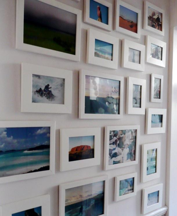 Fotowand, mooie witte lijsten Door Mirjam78
