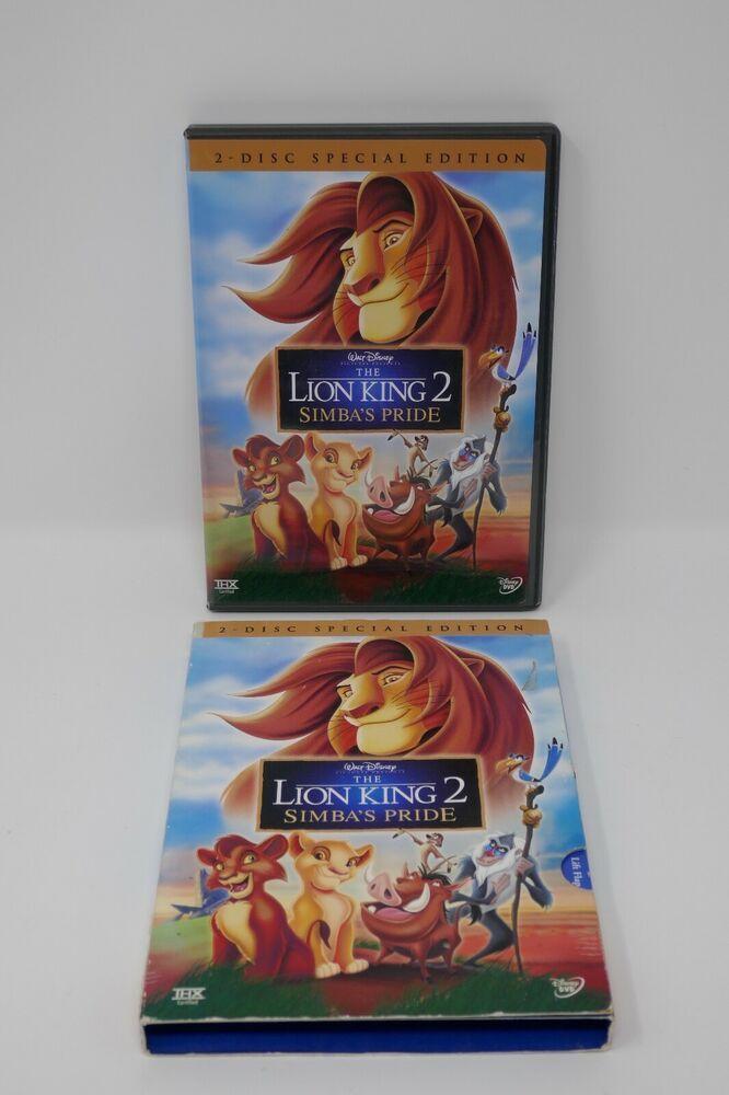 Walt Disney The Lion King 2 Simbas Pride Dvd 2004 2 Disc Special Edition Set Disney Lion King Lion King 2 Walt Disney