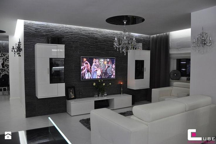 Mieszkanie Białołęka, Warszawa - Salon, styl glamour - zdjęcie od CUBE Interior Design